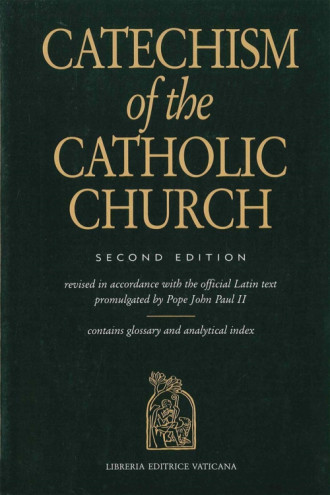 Catechism of the catholic church book cover